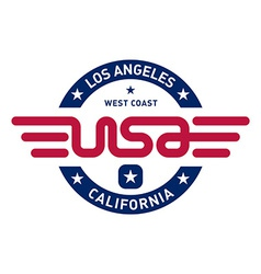 California t-shirt design vector image