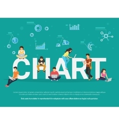 Chart concept vector