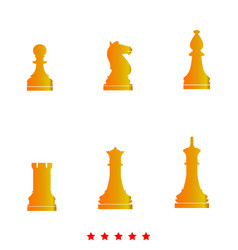chess pieces it is icon vector image