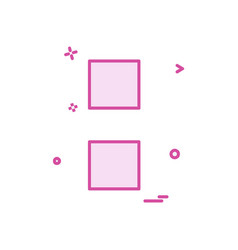 colon sign icon design vector image