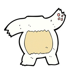 comic cartoon polar bear body mix and match or add vector image