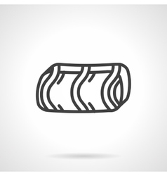 Confectionery simple line icon vector image
