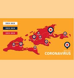 covid19-19 covid19 19 isometric world map vector image