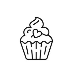 cupcake icon birthday icon symbol of holiday and vector image