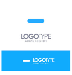 Delete less minus remove blue solid logo with vector