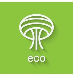 Eco tree symbol vector image