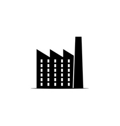Factory icon on white background can be used for vector