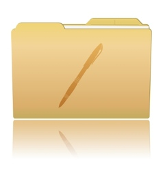 Folder with Pen vector image