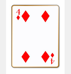 Four diamonds playing card vector