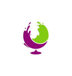 Glass wine splash abstract logo vector