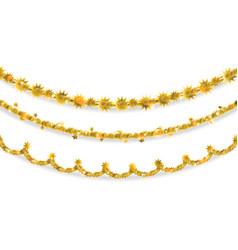 Golden tinsel elements vector