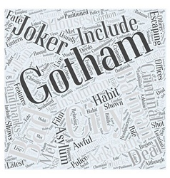 Gotham city Word Cloud Concept vector