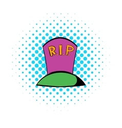 Grave icon comics style vector