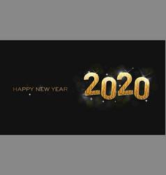 greeting card happy new year 2020 shinning stars vector image