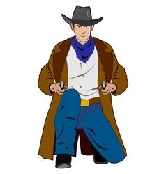 gunslinger vector image
