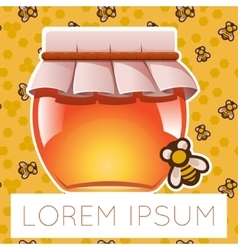 Honey and bee on background vector image