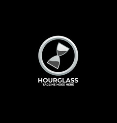 hourglass with circle drawing concept template vector image