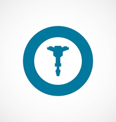 Jackhammer bold blue border circle icon vector