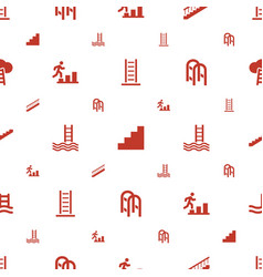 Ladder icons pattern seamless white background vector