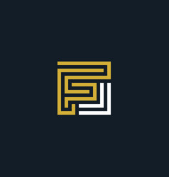letter logo f geometric line vector image