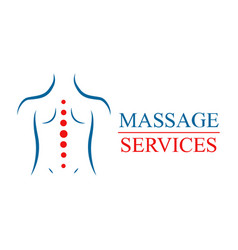 logotype for massage salon and health treatments vector image