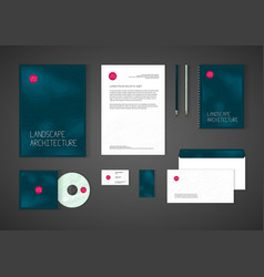 Minimalistic corporate identity template for vector