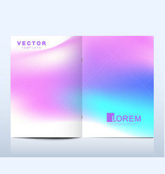 modern template for brochure leaflet vector image