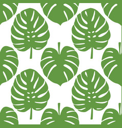 Monstera seamless pattern vector