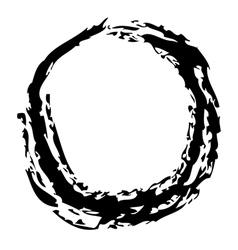 O Brushed vector image