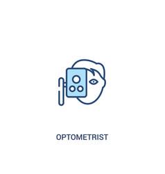 Optometrist concept 2 colored icon simple line vector