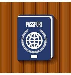 passport document travel icon vector image