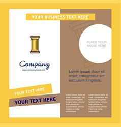 Piller company brochure template busienss template vector