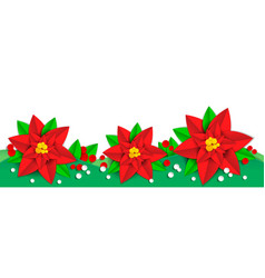 poinsettia christmas board vector image
