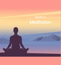 practice yoga lotus position and meditating vector image