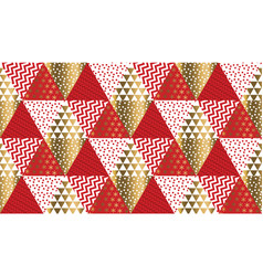 red and gold xmas carnival pattern vector image