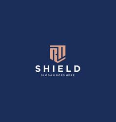 Rf rn shield logo vector