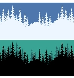 Seamless Fir Trees Silhouettes vector image