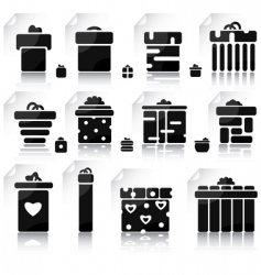 Set of gifts and elements vector