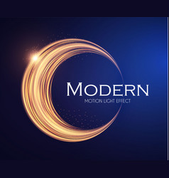 shining gold circle motion banner crescent moon vector image