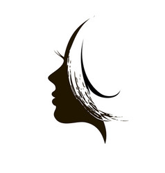 Silhouette of womans head vector