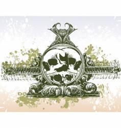Skull grunge portal illustration vector