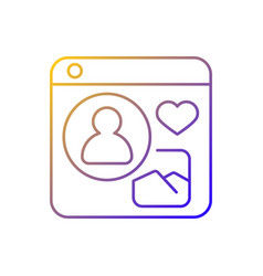 social networks gradient linear icon vector image