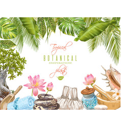 spa tropical frame vector image