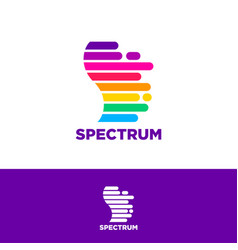 Spectrum logo color letter s logo vector
