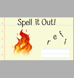 Spell it out fire vector