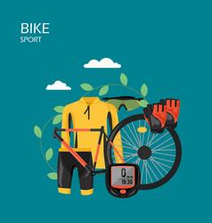 sport bike flat style design vector image