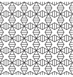 star square pattern seamless background vector image
