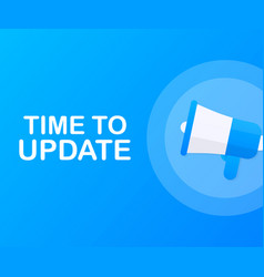 System software update or upgrade banner new vector