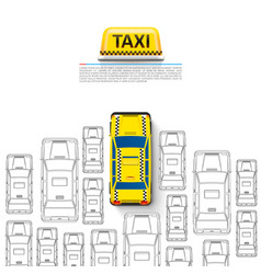 taxi car signboard on the white background vector image