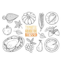 Thanksgiving sketches vector